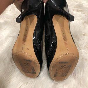 Vince Camuto Shoes - Vince Camuto Kiley Open Toe Patent Leather Pumps